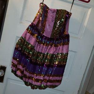 Strapless sequin asos dress sz 4 nwt